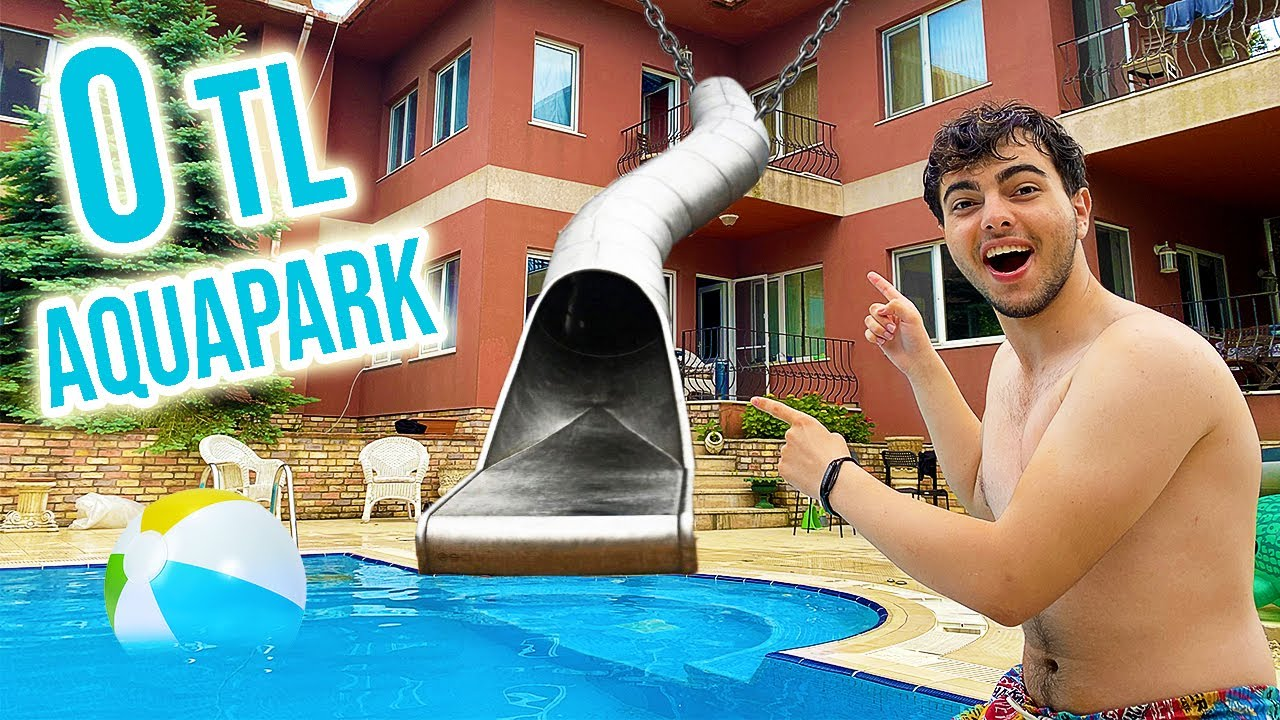 Download 0 TL ile Evimizin Havuzuna AQUAPARK YAPTIK !