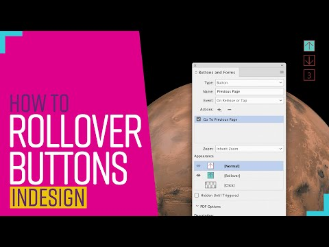 How to create rollover buttons in indesign