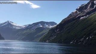 Гейрангер-фьорд , Норвегия. 19 мая 2018
