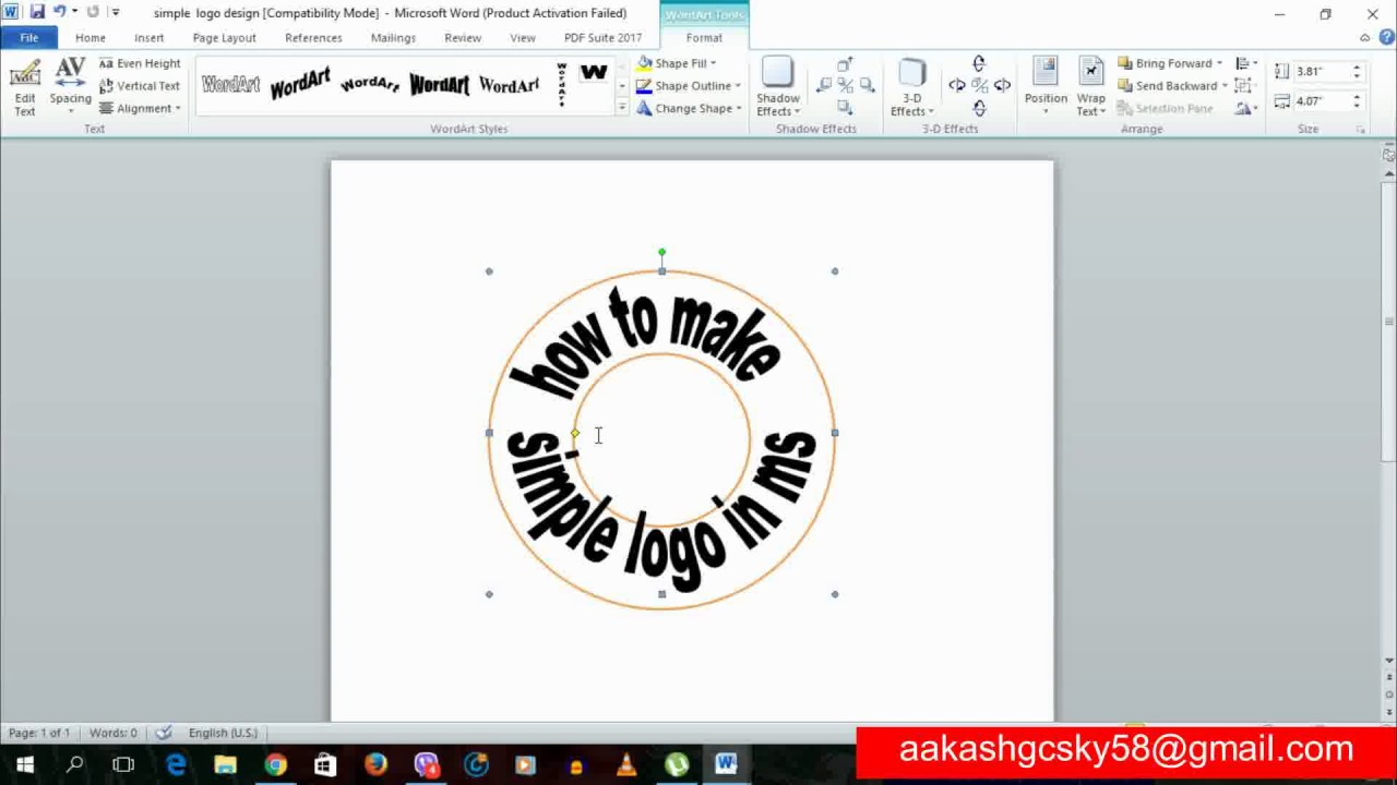 How To Create Logo In Microsoft Word 2010