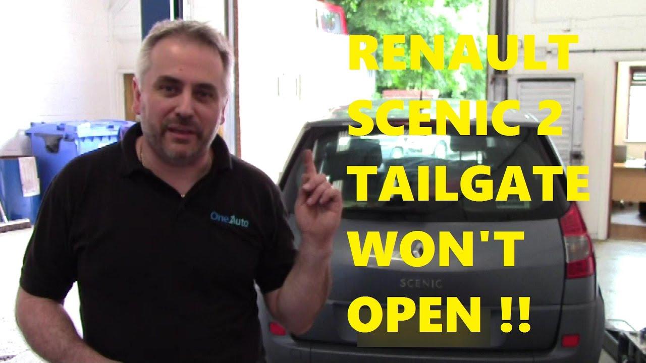 renault scenic 2 tailgate won t open doors not locking  [ 1280 x 720 Pixel ]