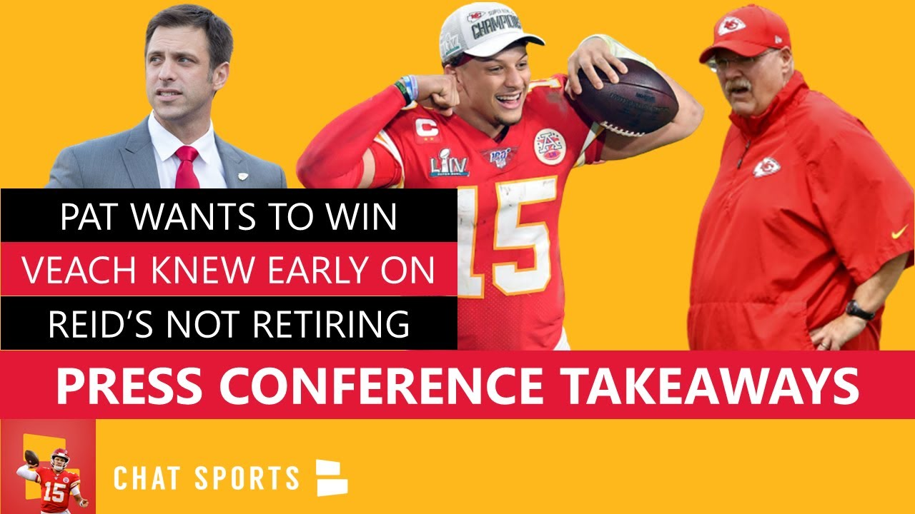 Chiefs News: Patrick Mahomes Contract Extension Press Conference Takeaways W/ Brett Veach, Andy Reid