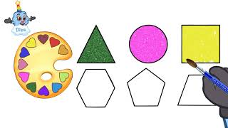 Фото Learn Shapes And Colors For Kids (Drawing And Coloring Video)