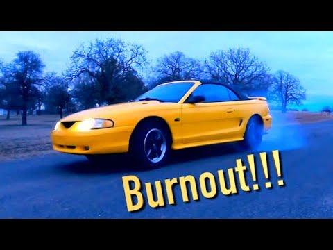 Copart 94 Ford Mustang GT Rebuild Finale + Burnout