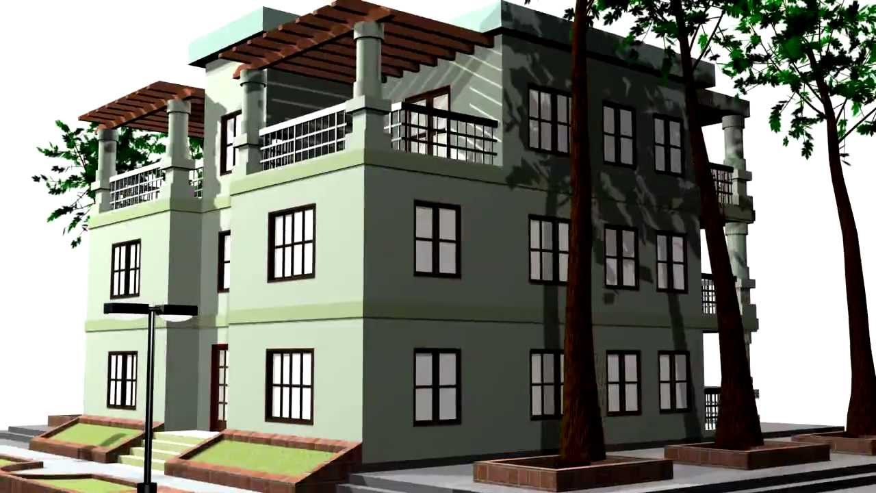 Apartment building 1 free 3d model download youtube for Apartment 3d model