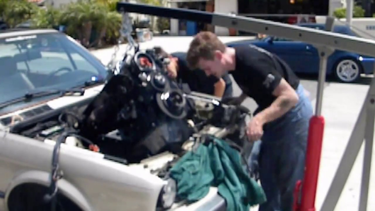 maxresdefault engine removal timelapse 1988 bmw 325i e30 (m20) youtube e30 wiring harness removal at n-0.co