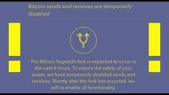 Crypto exchange desks freeze Bitcoin transactions ahead of wayw ard Segwit2X fork