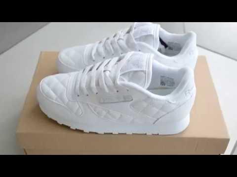 Обзор реплики кроссовок Reebok Classic Leather white - YouTube