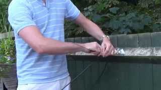 How to terminate an OVERHEAD TELEPHONE CABLE.