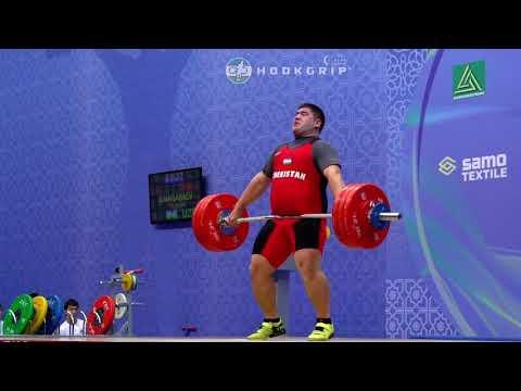 Rustam Djangabaev (105+) - 175kg, 180kg, & 184kg Snatches @ 2016 Asian Championships