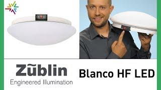 LED Deckenleuchte mit HF Bewegungsmelder und Notlicht: Die Züblin Blanco HF LED