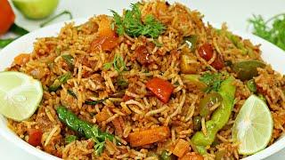 Tawa Pulao - Mumbai Street Style | Easy & Quick Pulao Recipe | Indian Rice Recipe