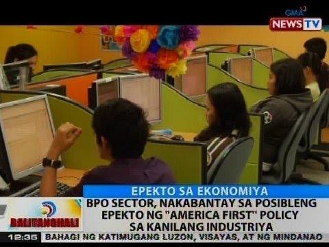 BT: BPO sector, nakabantay sa posibleng epekto ng 'America First' policy sa kanilang industriya