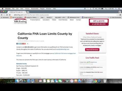 California FHA Loan Limits 2016 Update
