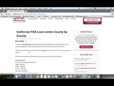 California FHA Loan Limits 2016 Update