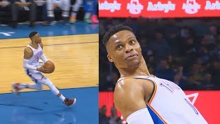 Russell Westbrook Tries To Show Off Then Embarrasses Himself After Missing Dunk & Checks The Rim! Video