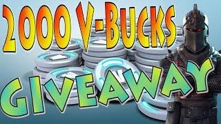 2000 V-Bucks GiveAway | 343 Squad Wins Xbox | Fortnite