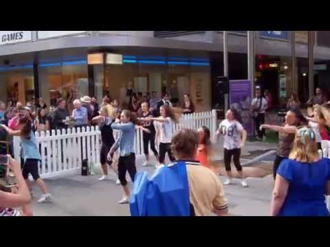 Adelaide Lightning Dance Team Rundle Mall Flash Mob Performance