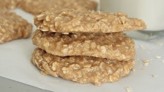 Lunchroom Fav! Peanut Butter Oatmeal No-bake Cookies Recipe