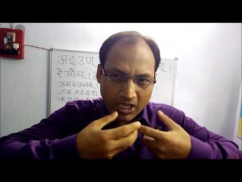 हल् एवं अच् में अंतर /माहेश्वर सूत्र । व्याख्याता - डॉ धनुर्धर झा