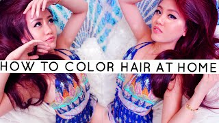 How to Dye Your Hair at Home ☾ Vibrant Violet Red Drugstore Hair Dye
