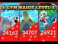 Pokemon GO 4 Gym Raids Tyranitar Blastoise & Venusaur + Raid Glitch