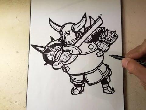 COMO DIBUJAR A PEKKA  CLASH ROYALE  how to draw pekka