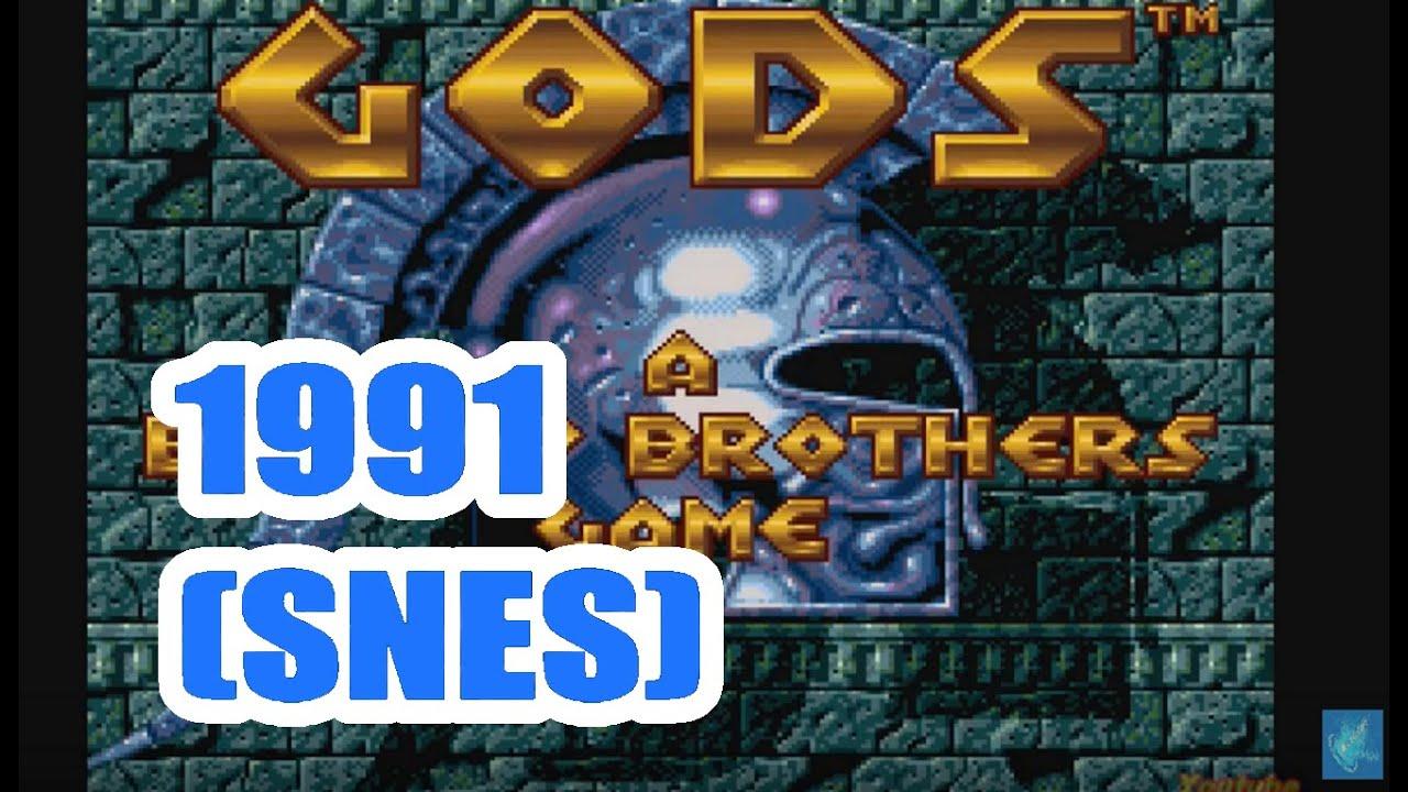 1991 Gods (SNES) Game Playthrough Retro game