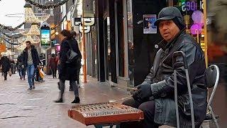 Street Musician plays the Santur  Jingle Bells  Eindhoven  December 14 , 2018