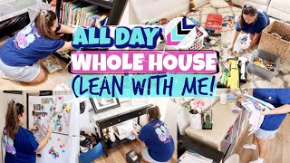 🌟WHOLE HOUSE CLEAN WITH ME! | ALL DAY EXTREME CLEANING MOTIVATION | KARLA'S SWEET LIFE