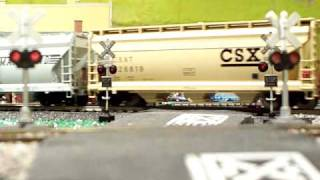 CSX Mixed Freight at The Second Cedar St. Crossing, Brookfield, New Jersey - 01-11-10