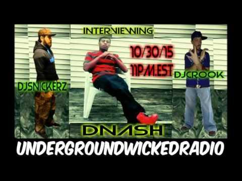 Dj Snickerz Interviews Dnash Tha Rapper LIVE!!