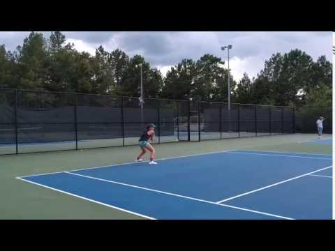 Celine Robinson-Tennis Practice-Dutch Fork Girls Tennis