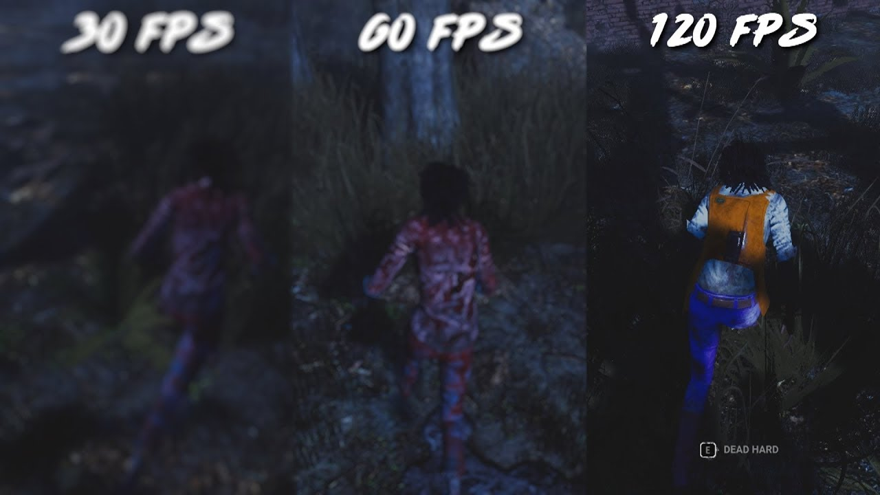 DEAD BY DAYLIGHT RENDER SETTINGS 30FPS vs 60FPS vs 120FPS [ SHOWCASE ]