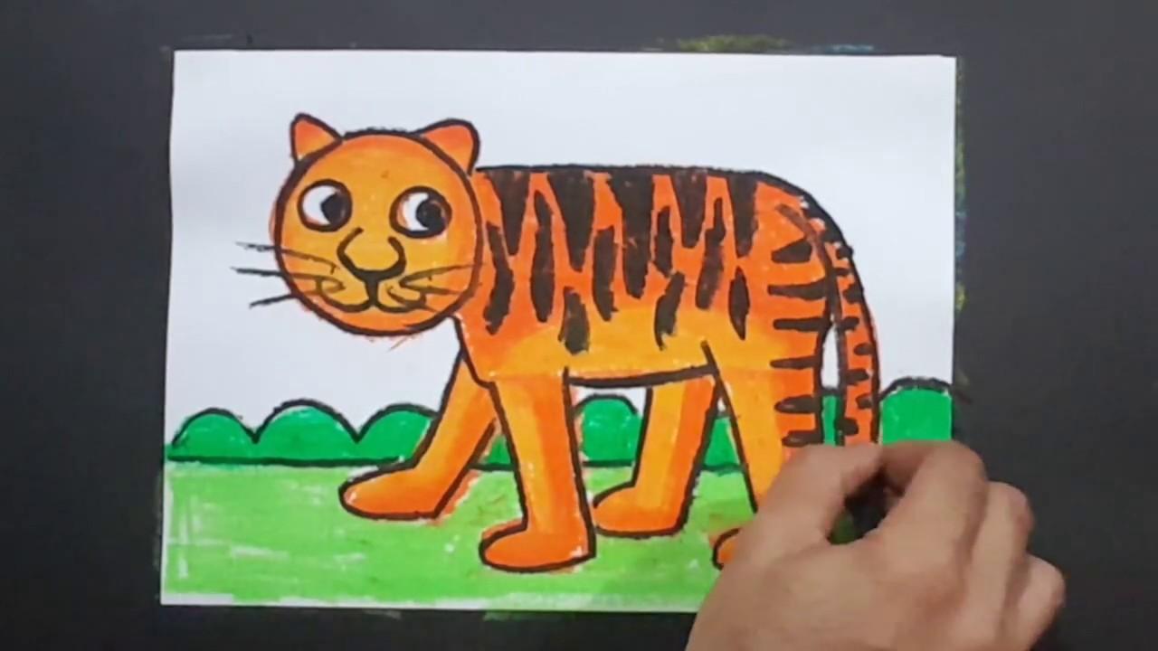Cara gambar harimau loreng   Cara menggambar harimau