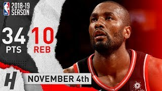Serge Ibaka Full Highlights Raptors vs Lakers 2018.11.04 - 34 Points, 10 Reb, SICK!