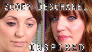 Zooey Deschanel Inspired Makeup Thumbnail