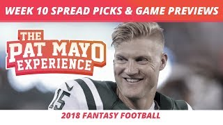 2018 Fantasy Football — Week 10 Spread Picks, NFL Game Previews & Airline Travel Tips