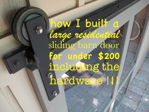 how to make ● A SLIDING DOOR and the HARDWARE yourself!! (su
