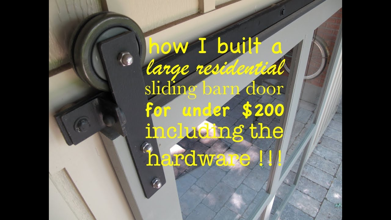 How To Make A SLIDING DOOR And The HARDWARE Yourself