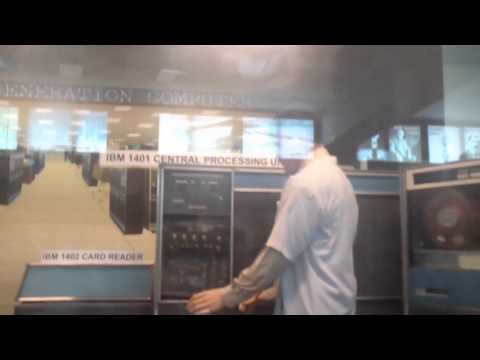 IBM punch card unit - Museum display