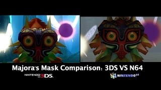 Zelda: Majora's Mask 3DS vs. N64 Comparison (Intro & More)