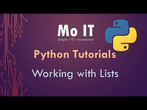 Python Tutorials - Working with Lists thumbnail