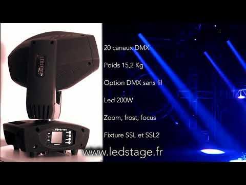Lyre led 200W avec zoom, frost et focus LEDSTAGE ls200z
