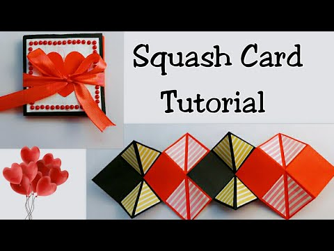 DIY Squash Card/ How to make Squash Card/ Card for Scrapbook Making