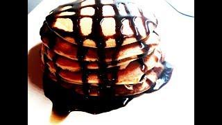 Вкуснейшие панкейки за 10 минут/пышные оладьи с шоколадом рецепт!
