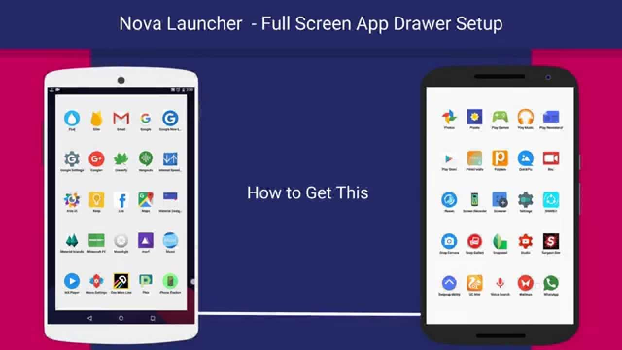 Full Screen App Drawer Setup - Nova Launcher