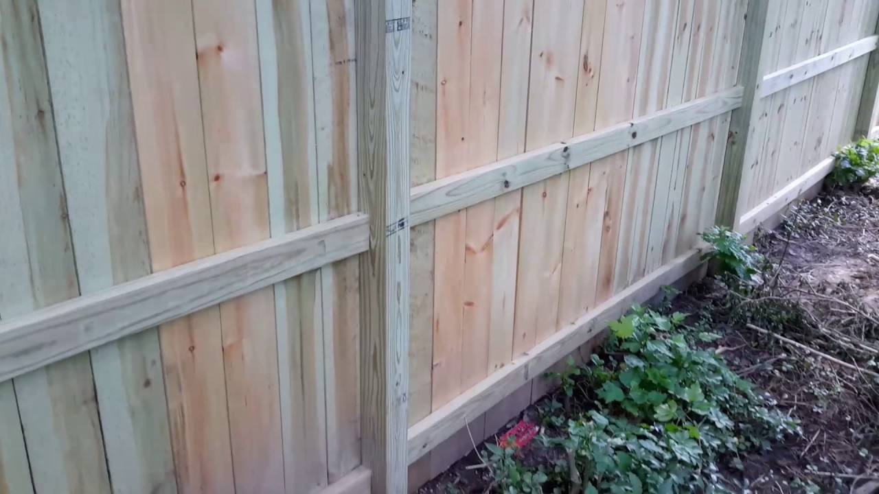 Great Fence Installation With Dog Ear Boards Improves On Basic Gate For Transitional Putting Up Electric