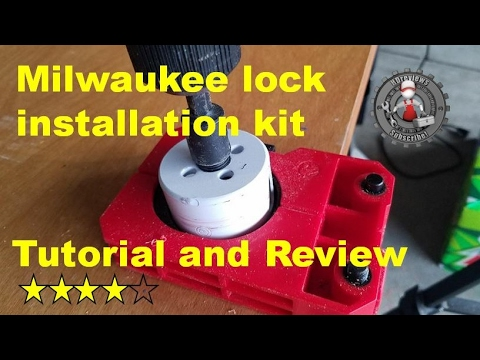 Milwaukee door lock installation kit review and tutorial 49-22-4073