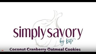 Coconut Cranberry Oatmeal Cookies from Simply Savory by Kate
